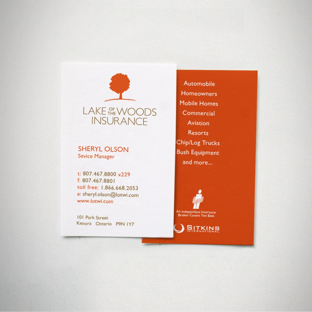 Lake of the Woods Insurance Business Cards